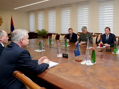 The CSTO Secretary General Stanislav Zas and Armenian Defense Minister David Tonoyan met in Yerevan