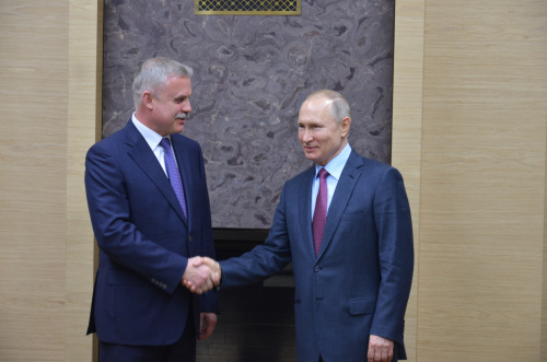 Chairman of the CSTO Collective Security Council, President of Russia Vladimir Putin met with Secretary General of the Organization Stanislav Zas