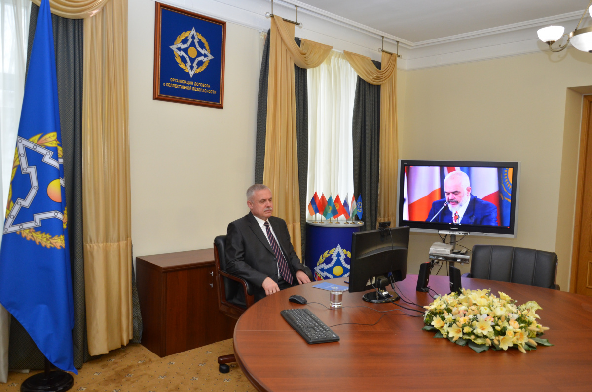 The CSTO Secretary General Stanislav Zas took part in the OSCE Ministerial Council meeting, which is being held via videoconferencing