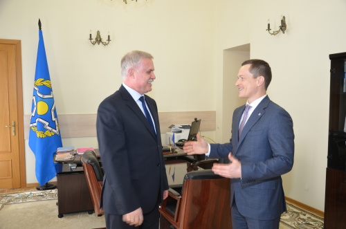 The CSTO Secretary General had a meeting with the Executive Secretary of the CSTO Parliamentary Assembly Sergei Pospelov
