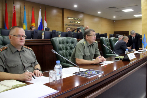 The staff talks were held on the preparation of joint trainings of operational reconnaissance and the CSTO Collective Rapid Reaction Forces