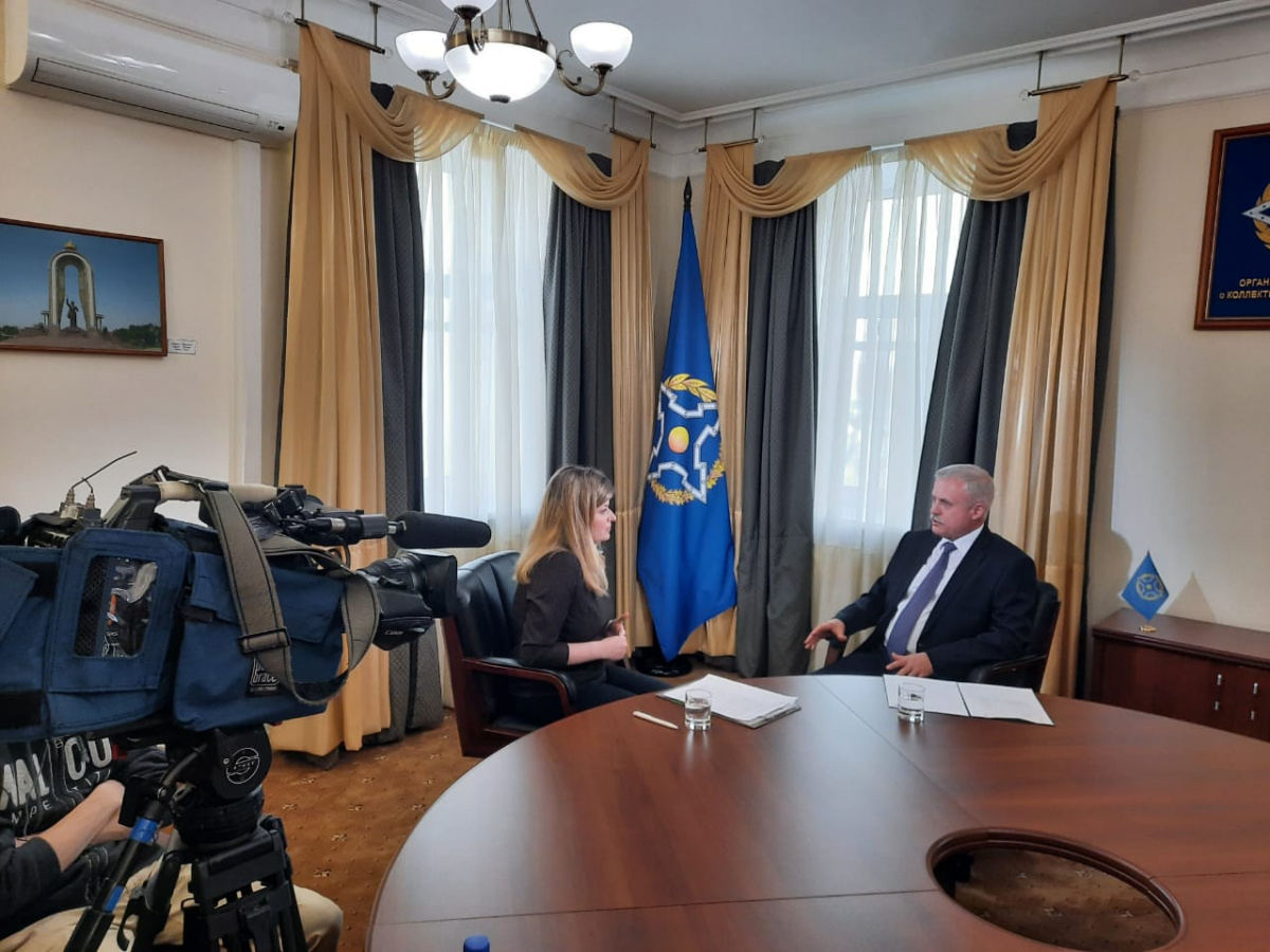 "The CSTO Secretary General Stanislav Zas gave an interview at the RT TV channel: ""We give priority to political means of influence"""