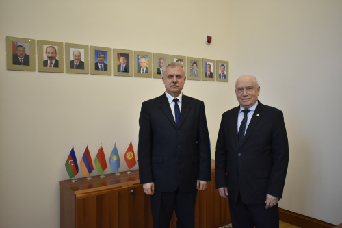 The CSTO Secretary General Stanislav Zas met with Chairman of the CIS Executive Committee Sergey Lebedev