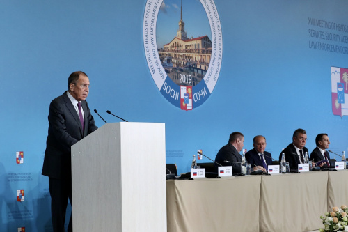 Foreign Minister Sergey Lavrov's remarks at the 18th meeting of heads of special services, security agencies and law-enforcement organisations of foreign states, Sochi, October 16, 2019
