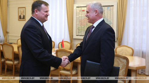 CSTO Secretary General Stanislav Zas in Minsk discussed with the Minister of Defense and the Secretary of State of the Security Council of Belarus military cooperation in the CSTO and preparations for the CSSC meeting