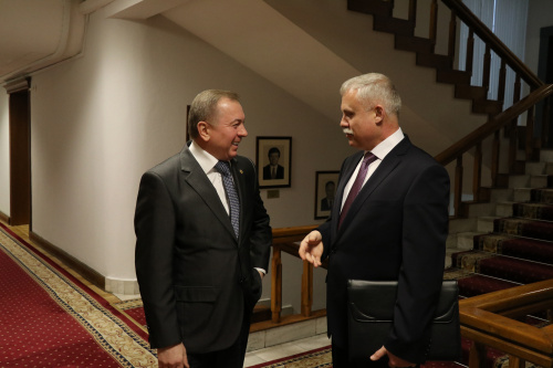 Belarusian Foreign Minister Vladimir Makei and CSTO Secretary General held a meeting in Minsk, during which they discussed the foreign policy coordination of the Organization, as well as the preparation of the upcoming CSTO CMD meeting
