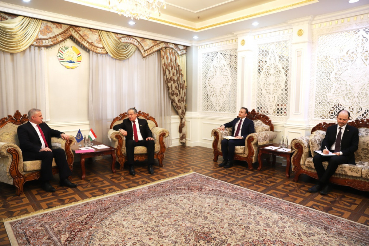 The CSTO Secretary General had a meeting with the Minister of Foreign Affairs of the Republic of Tajikistan Sirojidin Mukhriddin in Dushanbe
