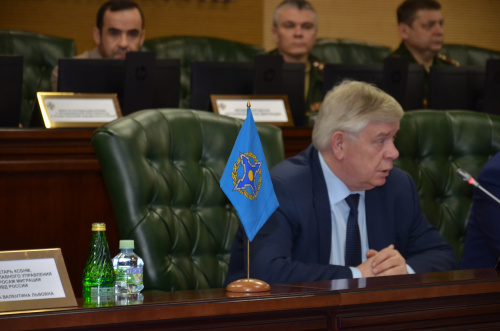 Speech by the CSTO Deputy Secretary General Valery Semerikov at a meeting of the International Headquarters of Operation Illegal on March 13, 2020
