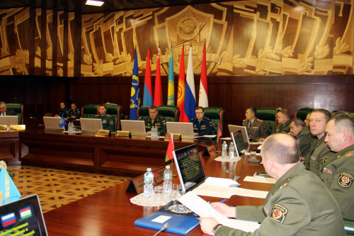 Representatives of the defense departments discussed issues of improving the joint training of command and control bodies and forces of the forces and means of a collective security system of the Collective Security Treaty Organization