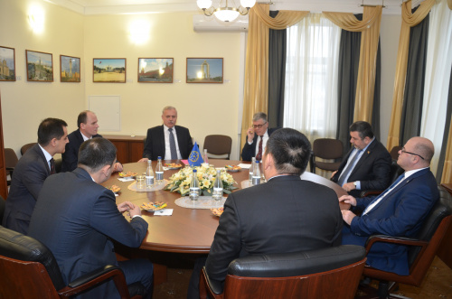 The CSTO Secretariat hosted a meeting of the Secretary General of the Collective Security Treaty Organization Stanislav Zas with the permanent and plenipotentiary representatives of the CSTO member states